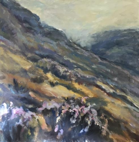 """Big Sur Hillside II"" Oil on Canvas"