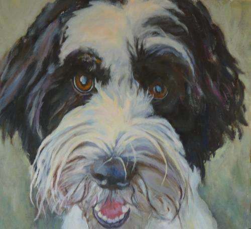 """Finnie"" Acrylic on Canvas"