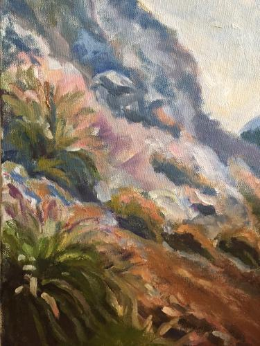 """Big Sur Hillside III"" Oil on Canvas"