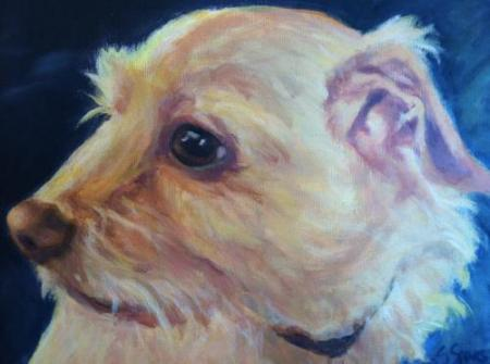 """Charley"" Oil on Canvas"