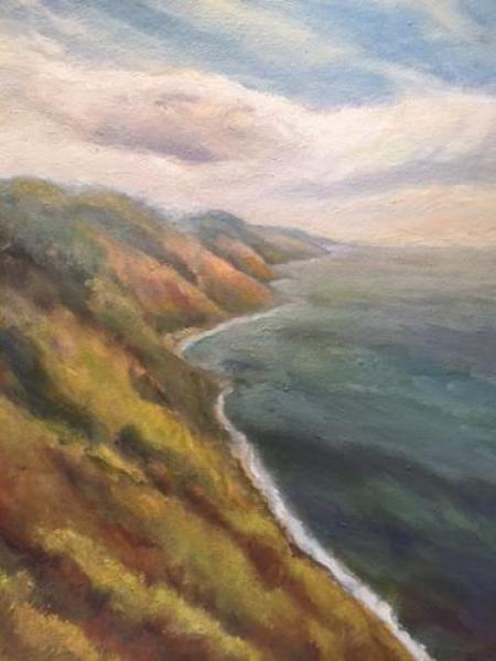 """Big Sur Panoramic II"" Oil on Canvas"