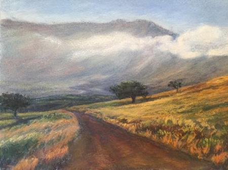 """Dirt Road on Maui"" Pastel on Paper"