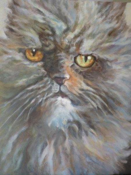 """Kitty II"" Acrylic on Canvas"