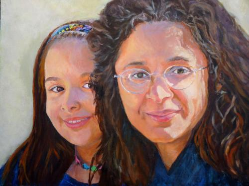 """Maddy and Sonali"" Acrylic on Canvas"