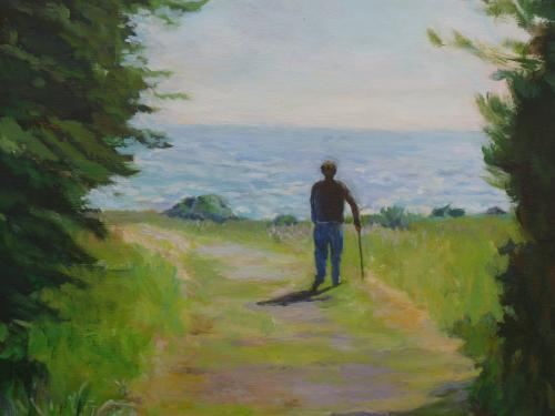 """Path to the Ocean"" Acrylic on Canvas"